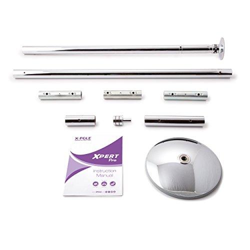 X-Pole Xpert PRO Dance Pole Stange 40 mm Chrom mit X-Lock System - Die neuste Version der berühmten Pole Dance Stange - Spinning- und Static Modus