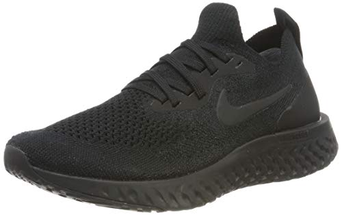 Nike Damen WMNS Epic React Flyknit Laufschuhe Schwarz Black 003, 36 EU