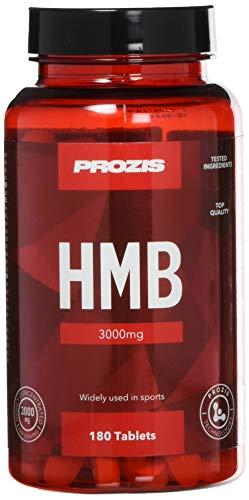 Prozis HMB 3000 mg 180 tabs - Metabolit von BCAA Leucin - Bodybuilding-Ergänzung zur Minimierung von Muskelverlust - 30 Portionen